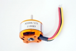 Мотор outrunner brushless 2822, 1100KV, HM model A2208-17