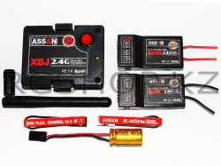 Модуль ASSAN 2.4G JR Compatible RF & Receivers Combo CJ-1 V2 (2 приемника X8R6, X8R7)