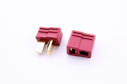Коннектор 2-Pin Dean Style Golden / Silve Plated T-Connectors (1 пара)